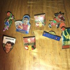 Pins de colección: LOTE 8 PINS FIBA , CLAUDIO SELECCIÓN ESPAÑOLA, DEPORTE LABORAL.... Lote 111737860