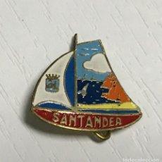 Pins de colección: INSIGNIA DE SANTANDER (BALANDRO - VELERO - REGATAS) - CANTABRIA - AÑOS 60. Lote 113444695
