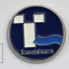 Pins de colección: PIN TURISMO - TORREBLANCA / VALENCIA - MEDIDAS 1,5 CM DIÁMETRO. Lote 113821367