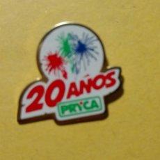 Pins de colección: PIN DE SUPERMECADOS PRYCA, 20 ANIVERSARIO. . Lote 114934067
