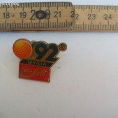 Pin's de collection: PIN , COCA COLA, EXPO SEVILLA 92. 1992, EXPOSICIÓN UNIVERSAL INSIGNIA.. Lote 115742655