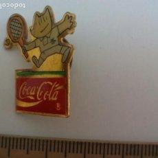 Pin's de collection: PIN , COCA COLA, JUEGOS OLIMPICOS COBI, BARCELONA 1992. TENIS OLIMPIAD INSIGNIA.. Lote 115743119