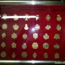Pins de colección: INSIGNIAS DE LAS HERMANDADES Y COFRADIAS DE LA SEMANA SANTA DE JEREZ CON MARCO. Lote 116785899