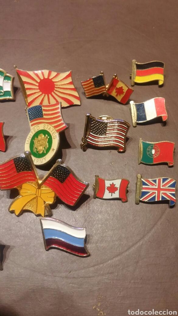 Pins de colección: LOTE DE 24 PINS E IMPERDIBLES BANDERAS - Foto 3 - 116796914