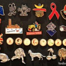 Pins de colección: PIN LOTE COLECCION DE 26 PINS. Lote 102412747