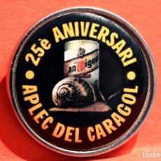 Pins de colección: PIN DE AGUJA LLEIDA 25 ANIVERSARI APLEC DEL CARAGOL LERIDA CERVEZA SAN MIGUEL . Lote 117342355