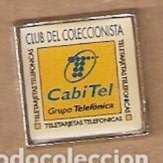 Pins de colección: PIN CLUB DEL COLECCIONISMO CABITEL. REF. 131-367. Lote 117748187