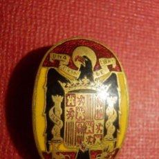 Pins de colección: INSIGNIA PARA OJAL DE SOLAPA - ESCUDO ESTADO ESPAÑOL - AGUILA - BANDERA ESPAÑA - EPOCA FRANCO -. Lote 118598739