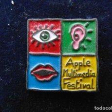 Pins de colección: APPLE COMPUTER. PIN APPLE MULTIMEDIA FESTIVAL. Lote 118622227