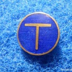 Pins de colección: INSIGNIA ESMALTADA - DE IMPERDIBLE - T - TRENES Y TRANVIAS -. Lote 118855379