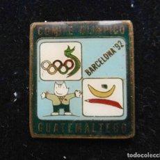 Pins de colección: PIN DEL EQUIPO OLIMPICO DE GUATEMALA. OLIMPIADAS DE BARCELONA 1992. Lote 119219787