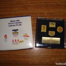 Pins de colección: (TC-126) COLECCION PIN PINS COLECCION OFICIAL 1992 VISA U.S. OLYMPIC COLLECTOR PIN SET MUY DIFICIL. Lote 120985019