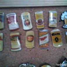 Pins de colección: PINS DE CERVEZAS: LATAS. Lote 121178439