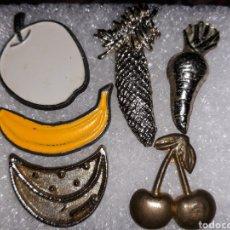Pins de colección: 6 PINS FRUTAS. Lote 121638662