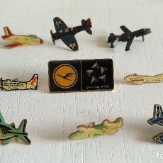 Pins de colección: LOTE 9 PINS AVIONES....MIRAR FOTOS..SALIDA 1 EURO. Lote 122449815