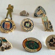 Pins de colección: LOTE 9 PINS POLICIA,URBANA,GUARDIA CIVIL,MOSSOS,MILITAR....MIRAR FOTOS..SALIDA 1 EURO. Lote 122449963