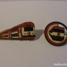 Pins de colección: LOTE 2 PINS TREN RENFE...MIRAR FOTOS..SALIDA 1 EURO. Lote 124502659