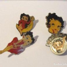 Pins de colección: LOTE 4 PIN BETTY BOOP...MIRAR FOTOS...SALIDA 1 EURO. Lote 124504523