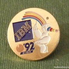 Pins de colección: PIN EXPO 92 SEVILLA, IBM, RARO. Lote 126342811