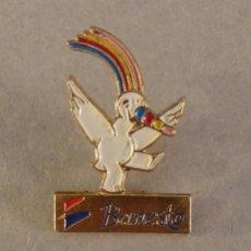 Pins de colección: PIN EXPO 92 SEVILLA, CURRO PUBLICIDAD BANESTO, RARO. Lote 126352319