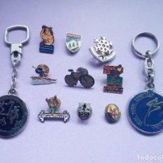 Pins de colección: LOTE 9 PINS Y 2 LLAVEROS - DEPORTES VARIADOS ASOCIACIONES DEPORTIVAS. Lote 126989627