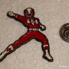 Pins de colección: PIN DE DIBUJOS ANIMADOS. POWER RANGERS. ROJO. Lote 128672951