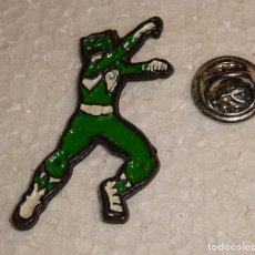 Pins de colección: PIN DE DIBUJOS ANIMADOS. POWER RANGERS. VERDE. Lote 128672955