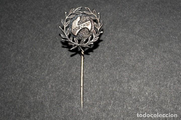 Pins de colección: Antigua insignia de aguja PLATA HOECHST - Foto 2 - 129617547