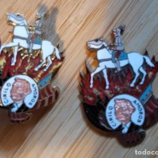 Pins de colección: LOTE 2 INSIGNIAS PIN DE FALLERO FALLA CIRILO AMOROS VALENCIA - UNA SIN IMPERDIBLE. Lote 130825012