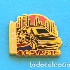 Pins de colección: PIN PEUGEOT 405 MI 16. Lote 131076828
