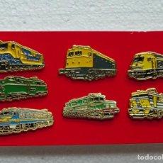 Pins de colección: PINS TRENES - LOTE 7 PINS MAQUINAS ELECTRICADS. Lote 132583322