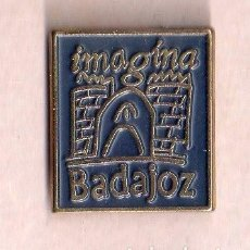 Pins de colección: BONITO PINS DE PUBLICIDAD DE BADAJOZ VER FOTO ADICIONAL . Lote 133014550