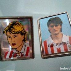 Pins de colección: 2 PINS JULEN GUERRERO (ATLETIC BILBAO) (UNO CON PUA PARTIDA). Lote 133467034