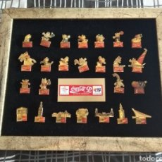 Pins de colección: LOTE COMPLETO PINS KOBI Y EXPO 92. Lote 133610623