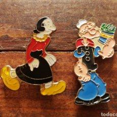 Pins de colección: PINS POPEYE EL MARINO Y OLIVIA, AÑOS 80'S.. Lote 133722658