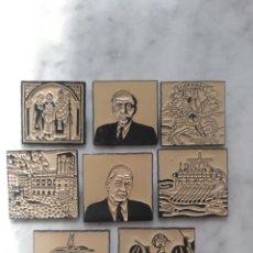 Pins de colección: LOTE 8 PINS DIARIO (AVUI).. Lote 133923074