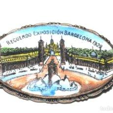 Pins de colección: RECUERDO EXPOSICION BARCELONA 1929. ANTIGUA INSIGNIA ESMALTADA DE AGUJA. ORIGINAL. Lote 135140058