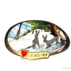 Pins de colección: LA MOLINA. ANTIGUA INSIGNIA DE AGUJA. ORIGINAL. Lote 135140514
