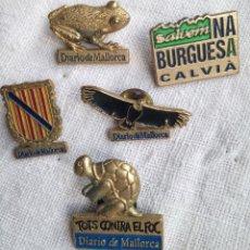 Pins de colección: LOTE PINS DIARIO DE MALLORCA. NA BURGUESA. . Lote 136588014