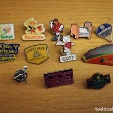 Pins de colección: LOTE DE ANTIGUOS PINS PIN VARIADO PUBLICIDAD AÑOS 90. Lote 137255262