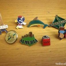 Pins de colección: LOTE DE ANTIGUOS PINS PIN VARIADO PUBLICIDAD AÑOS 90. Lote 137255330