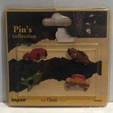 Pins de colección: LOTE 4 PINS COCHES SERIE LIMITADA ORÍGEN DE SUIZA. PRECINTADO. AÑOS 90.. Lote 139726230
