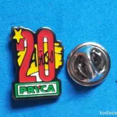 Pins de colección: PIN PUBLICIDAD - ANIVERSARIO 20 AÑOS SUPERMERCADO PRYCA. . Lote 140512182