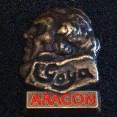 Pins de colección: PRECIOSO PIN DE GOYA (ARAGON). Lote 140525466