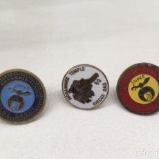 Pins de colección: 3 PINS PIN MASÓNICOS. MOHAMMED TEMPLE. Lote 142689600
