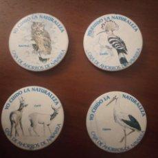Pins de colección: LOTE DE 4 ANTIGUAS CHAPAS DE CAJA DE AHORROS DE NAVARRA. (PIN). Lote 143652646