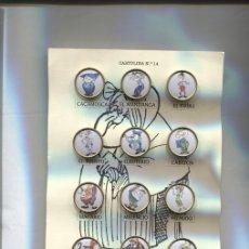 Pins de colección: PINS: CARTULINA NUMERO 14: VECINOS DEL PUEBLO DE AGAMENON DE NENE ESTIVILL. Lote 143970950