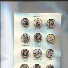 Pins de colección: PINS: CARTULINA NUMERO 06: PERSONAJES DEL GUERRERO DE ANTIFAZ. Lote 143971101