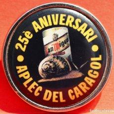Pins de colección: PIN DE AGUJA LLEIDA 25 ANIVERSARI APLEC DEL CARAGOL LERIDA CERVEZA SAN MIGUEL. Lote 99192611