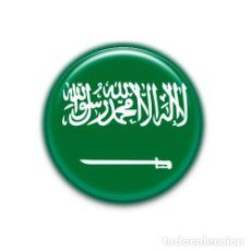 Pins de colección: ARABIA SAUDITA : BANDERA NACIONAL, PIN CHAPA ALFILER 1.50 INCH (38MM). Lote 145697345